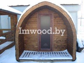 Фото арочного домика, модель 3 метра - у нас вы можете купить арочный летний домик на дачу в Минске с доставкой по всей Беларуси!
