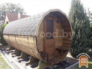 Фото бани-бочки, модель 6+ метров - у нас вы можете купить баню-бочку в Минске с доставкой по всей Беларуси!