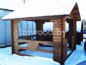 Фото деревянной беседки - у нас вы можете купить деревянную беседку в Минске с доставкой по всей Беларуси!