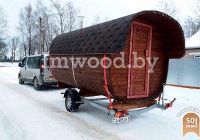 Фото бани квадро-бочки, модель 2,5 метра - у нас вы можете купить баню квадро-бочку в Минске с доставкой по всей Беларуси!