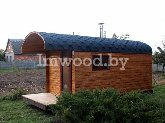 Фото финской бани, модель 3 метра - у нас вы можете купить финскую баню в Минске с доставкой по всей Беларуси!
