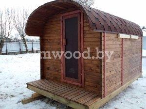 Фото финской бани, модель 4 метра - у нас вы можете купить финскую баню в Минске с доставкой по всей Беларуси!
