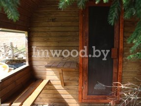 Фото финской бани, модель 6 метра - у нас вы можете купить финскую баню в Минске с доставкой по всей Беларуси!