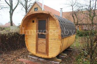 Фото бани квадро-бочки, модель 3,5 метра - у нас вы можете купить баню квадро-бочку в Минске с доставкой по всей Беларуси!
