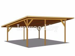 Фото деревянного навеса - у нас вы можете купить навес на дачу в Минске с доставкой по всей Беларуси!