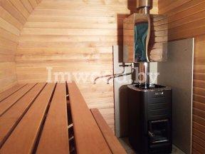 Фото бани овало-бочки, модель 2,5x5 метров - у нас вы можете купить баню овало-бочку в Минске с доставкой по всей Беларуси!