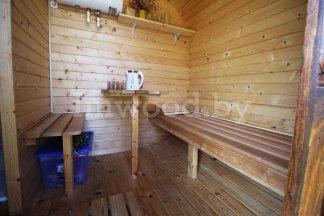 Фото бани овало-бочки, модель 3x5 метров - у нас вы можете купить баню овало-бочку в Минске с доставкой по всей Беларуси!