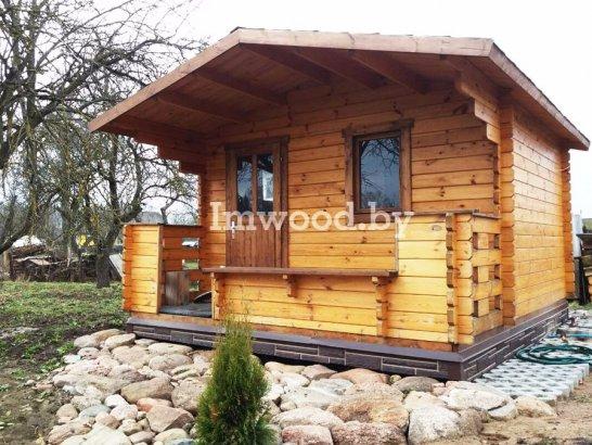Фото русской бани 3,5 на 4,5 метров, у нас вы можете купить русскую баню в Минске с доставкой по всей Беларуси!
