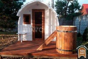 Арочная баня 4м