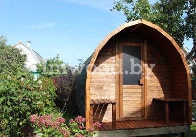 Фото арочного домика, модель 4 метра - у нас вы можете купить арочный летний домик на дачу в Минске с доставкой по всей Беларуси!