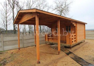 Садовый домик  1.02 с террасой