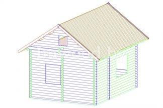 Дачный дом, модель 3.02