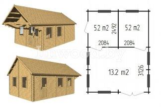 Дачный дом, модель 3.04