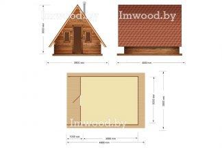 Дом-шалаш. Планировка модели 3x4 метра - у нас вы можете купить арочный летний домик на дачу в Минске с доставкой по всей Беларуси!