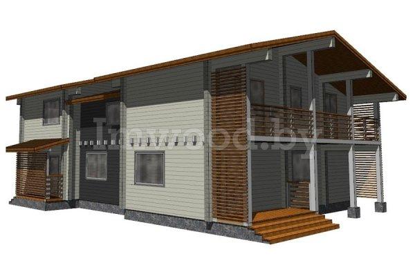 Дом из бруса, проект 2