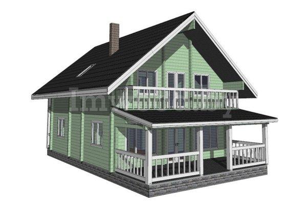 Дом из бруса, проект 3