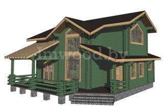 Дом из бруса, проект 4