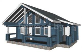 Дом из бруса, проект 6