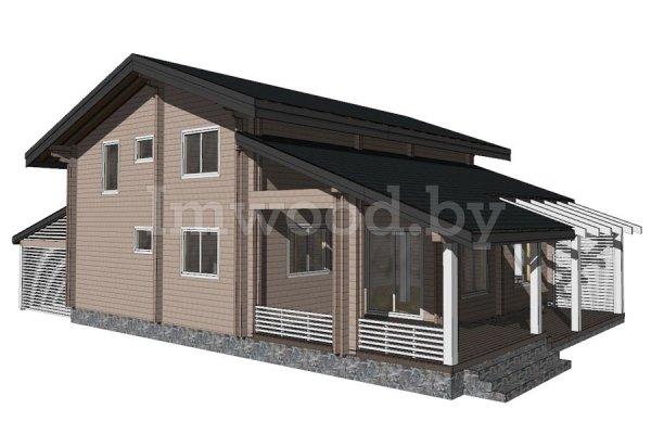 Дом из бруса, проект 7