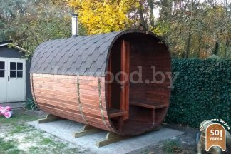 Фото бани квадро-бочки, модель 3 метра - у нас вы можете купить баню квадро-бочку в Минске с доставкой по всей Беларуси!