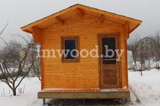 Русская баня, модель 3x4,5 метра
