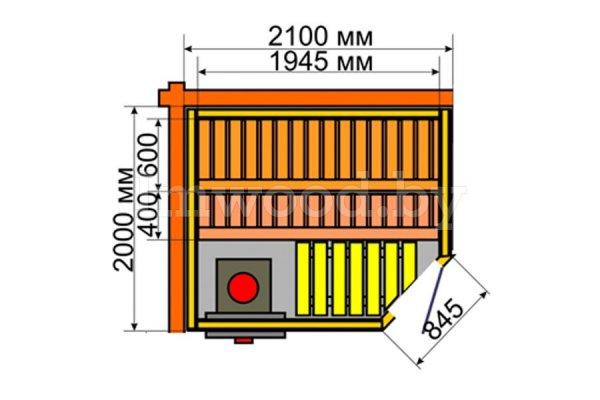 Сауна 2,0x1,95м