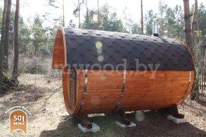 Баня-бочка 3,5 метра для нашего заказчика, июнь 2020