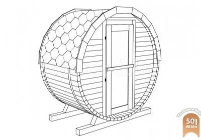 Баня-бочка, модель 1,2 метра